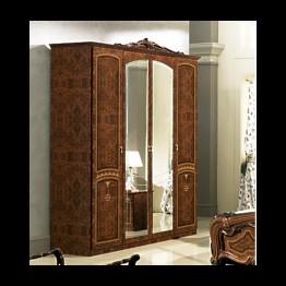 Шкаф 4-х дверный Юлия Орех