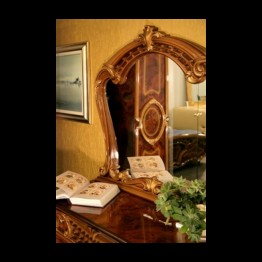 Зеркало навесное Памела Орех золото