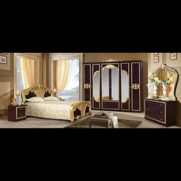 Шкаф 3-х дверный Карина могано золото
