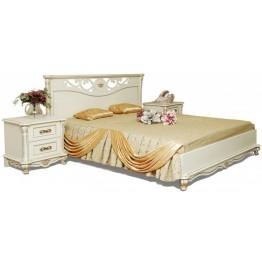 Кровать двойная «Алези» с низким изножьем