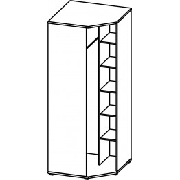 Шкаф угловой «Квадро» П181.17