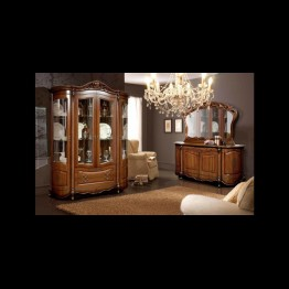 Шкаф комбинированный с витриной Аллегро-8 темная