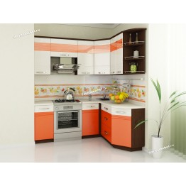Кухонный гарнитур угловой Оранж 15 (ширина 150х200 см)