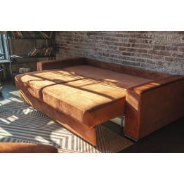 Прямой диван Лайф коричневый
