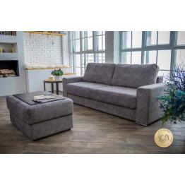 Прямой диван Лайф серый