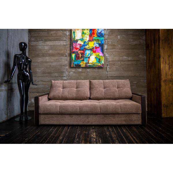 Прямой диван Манхэттен темный
