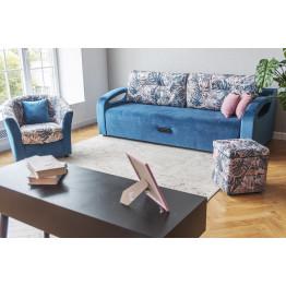 Прямой диван Орландо синий