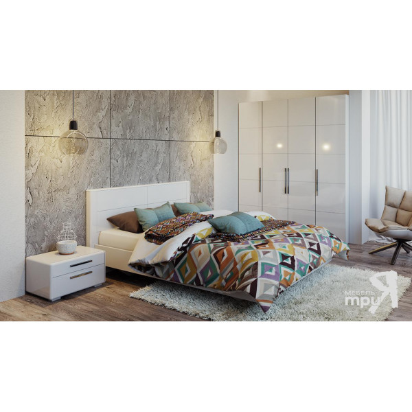 Спальня «Наоми» (Белый глянец)