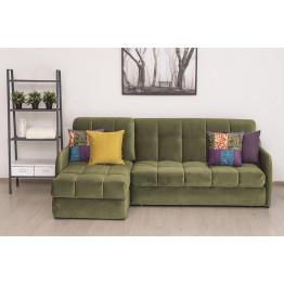 Угловой диван Севилья оливковый