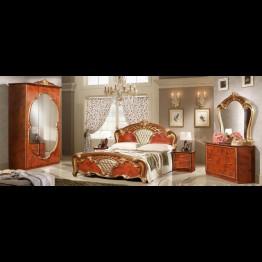 Кровать Карина черешня золото