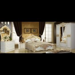 Шкаф 4-х дверный Карина беж золото