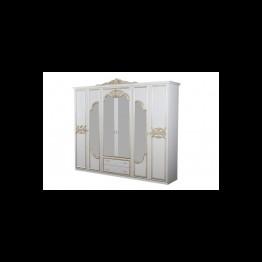 Шкаф 6-ти дверный Карина беж золото