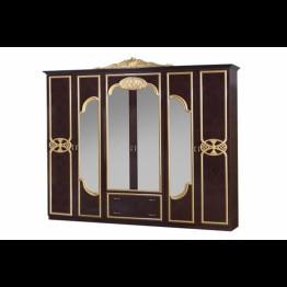 Шкаф 6-ти дверный Карина могано золото