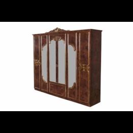 Шкаф 6-ти дверный Карина орех золото