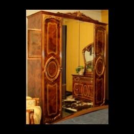 Шкаф 6-ти дверный Памела орех золото