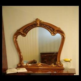 Зеркало навесное Юлия Орех золото