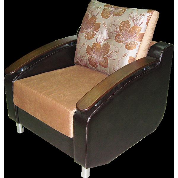 Кресло софа с деревянными подлокотниками
