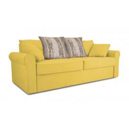 Прямой Диван «Шерри» (Maserati 11 (велюр) желтый, подушки Tiffany wood (шинил) древесный)
