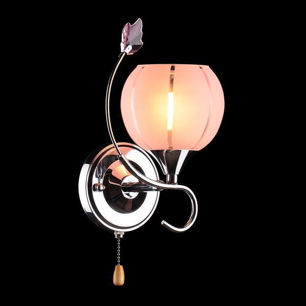 Бра 3457/1 хром/розовый