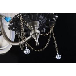 Бра 3645/1 античная бронза/прозрачный хрусталь  Strotskis