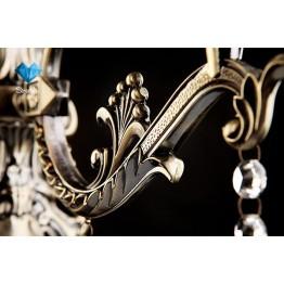 Бра с хрусталем 22585/1 античная бронза