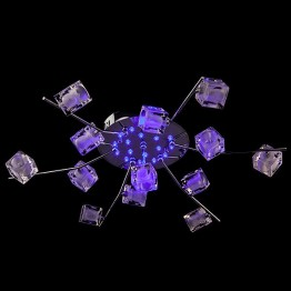 Люстра галогенная 80008/13 хром/синий+красный+фиолетовый