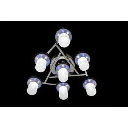 Люстра галогенная 90011/7 хром/бело-синий