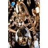 Люстра хрустальная 10037/8 золото/тонированный хрусталь Strotskis