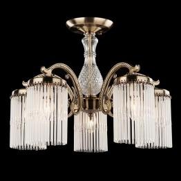 Люстра хрустальная 60014/5 античная бронза