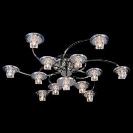 Люстра со светодиодной подсветкой 7030/6+6+1 хром/синий