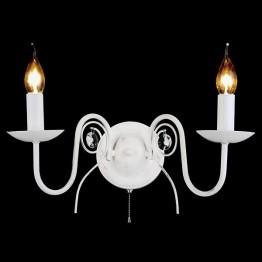 Настенный светильник 60018/2 белый с золотом