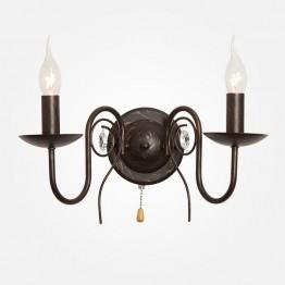 Настенный светильник 60018/2 черный с золотом