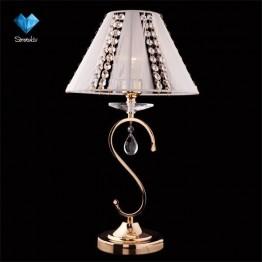 Настольная лампа с хрусталем 3419/1T золото/белый Strotskis