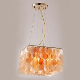 Подвесной светильник 60022/4 золото/коралловый
