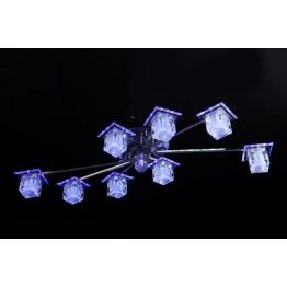 Потолочный светильник 4803/8 хром/белый-синий+красный+фиолетовый