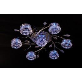 Потолочный светильник 4863/7 хром/синий+красный+фиолетовый