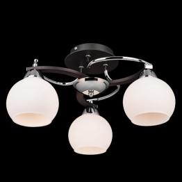 Потолочный светильник 9654/3 хром/венге