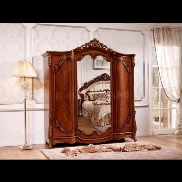 Шкаф 4-х дверный Офелия орех