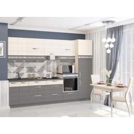 Кухонный гарнитур Графит 2.1 (ширина 300 см)