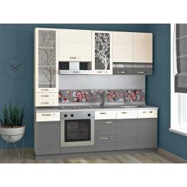 Кухонный гарнитур Графит 24 (ширина 220 см)