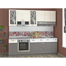 Кухонный гарнитур Графит 25 (ширина 240 см)