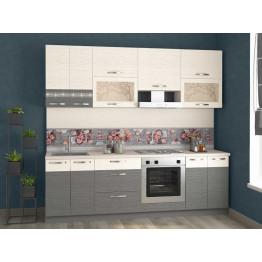 Кухонный гарнитур Графит 26 (ширина 240 см)