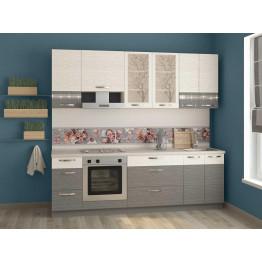 Кухонный гарнитур Графит 27 (ширина 240 см)