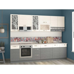 Кухонный гарнитур Графит 29 (ширина 280 см)