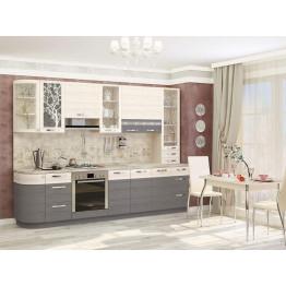 Кухонный гарнитур Графит 3.1 (ширина 292 см)