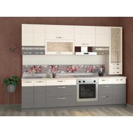 Кухонный гарнитур Графит 30 (ширина 280 см)