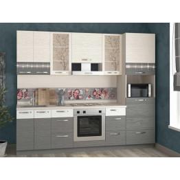 Кухонный гарнитур Графит 31 (ширина 260 см)