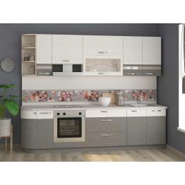 Кухонный гарнитур Графит 32 (ширина 282 см)