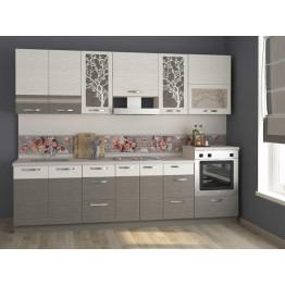 Кухонный гарнитур Графит 33 (ширина 280 см)