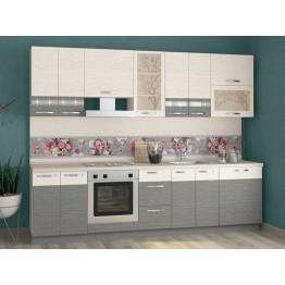 Кухонный гарнитур Графит 34 (ширина 280 см)